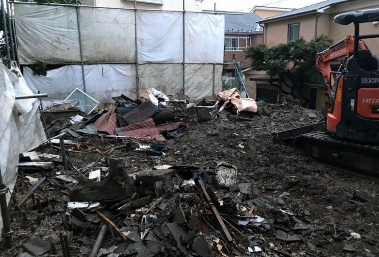 横浜市磯子区,住宅解体工事